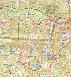 What S Wrong With These Two Maps Click On Each To Enlarge The 1984 Map Left Places Trail Gulch And Its Namesake Lake To The West Of Long Gulch And Its